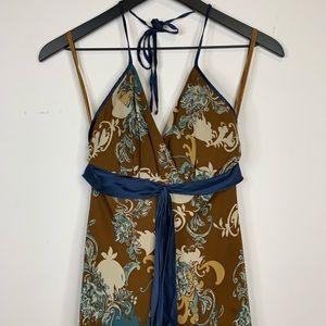 BCBG Paris • halter maxi dress